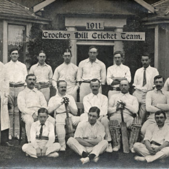 Postcard of Crockey Hill Cricket Team 1911