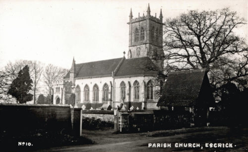 Postcard of Escrick Church - No. 10 in series
