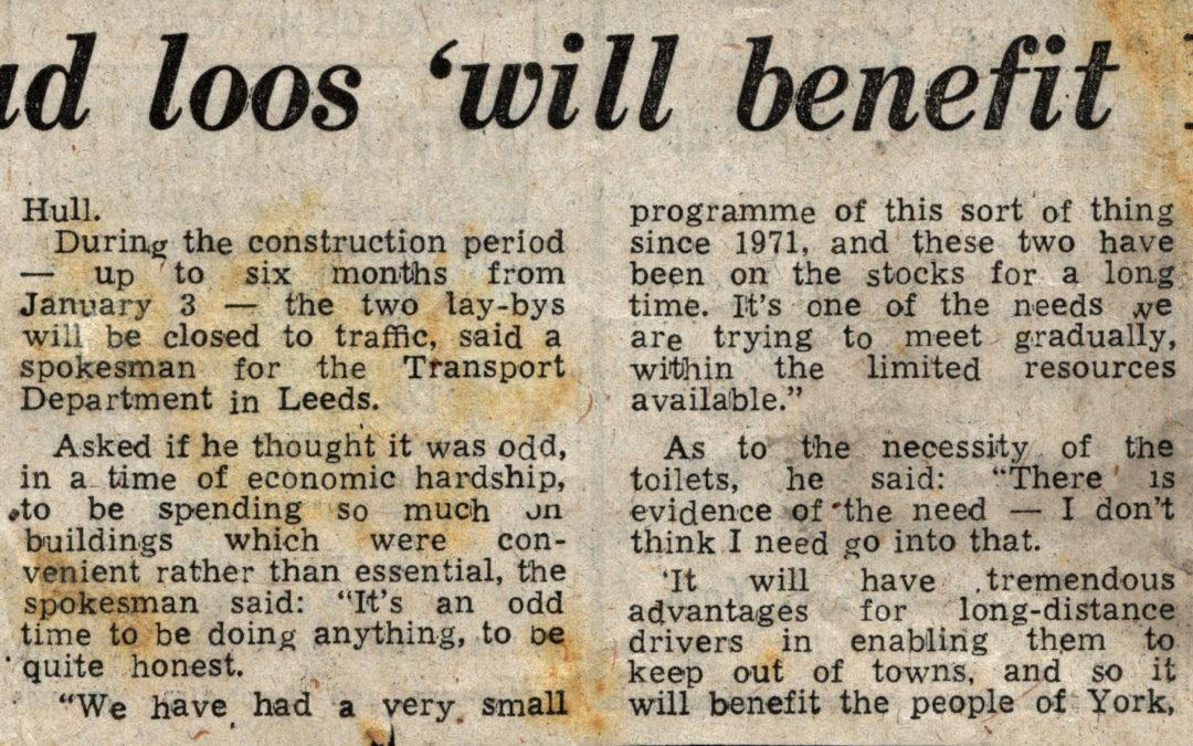 Novel approach to inner York traffic – Public Conveniences
