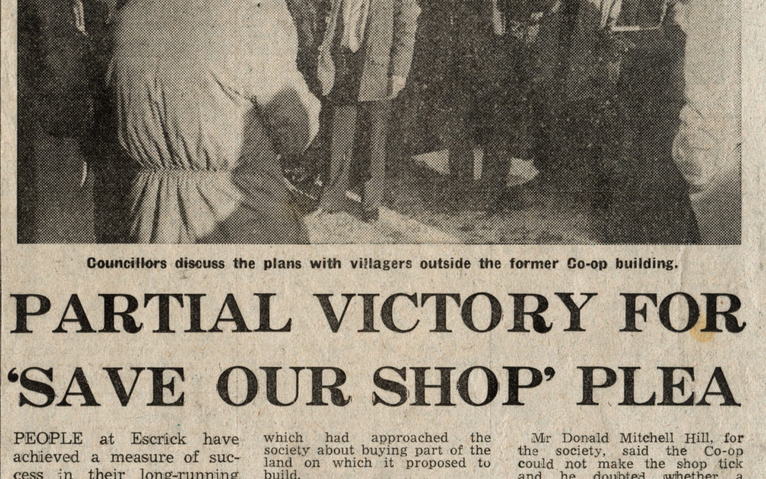 Escrick villagers fight for their local shop
