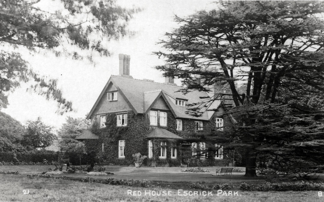 Postcard of Red House, Escrick Park