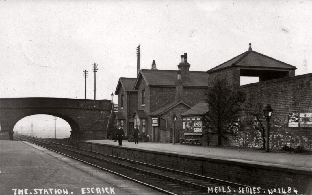 Postcard of Escrick Station