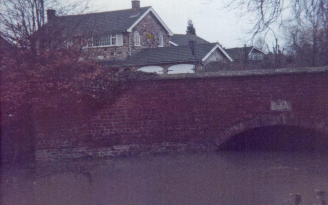 Escrick Flood – Bridge near the school 29 December 1978