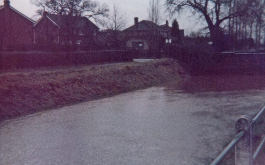 Escrick Flood – Carr Lane near Police Houses 29 December 1978