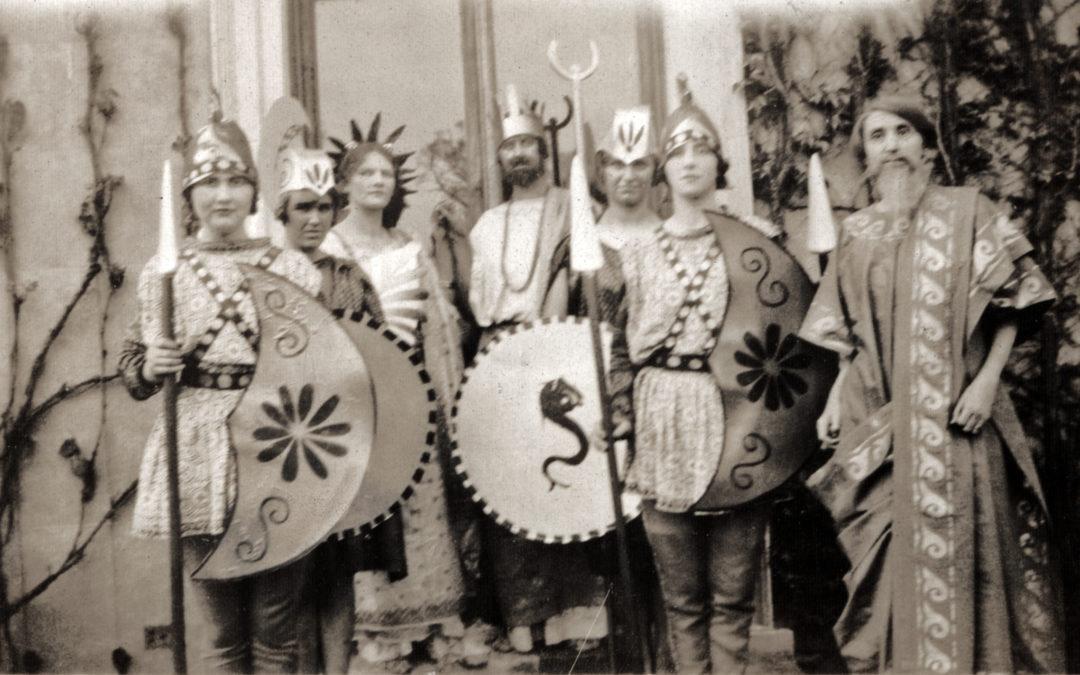 Forbes Adam Drama Group at Escrick Hall – Elizabeth Tomlinson (centre back) as Thesius