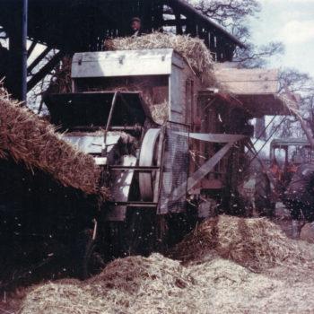 Combine Harvester at work - Mount Farm Escrick 1950