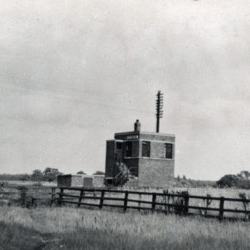 Signal Box at Escrick South - Mount Farm Siding 1949