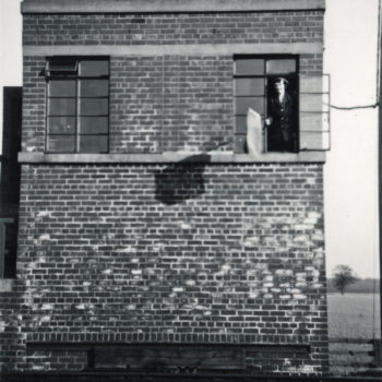 Signal Box at Escrick South, Elizabeth Tomlinson on duty - Mount Farm Siding 1952