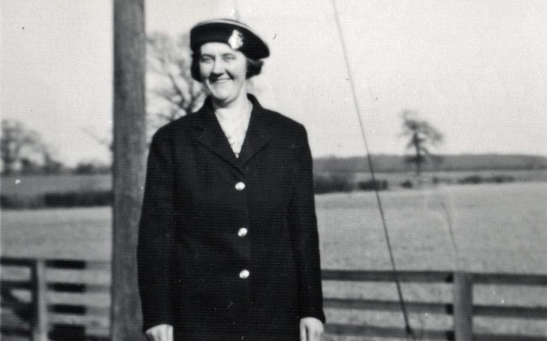 Signal Box at Escrick South, Elizabeth Tomlinson on duty  – Mount Farm Siding 1952