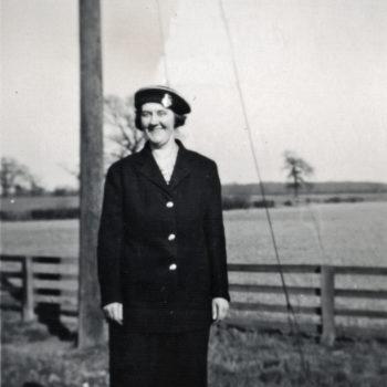 Signal Box at Escrick South, Elizabeth Tomlinson on duty - Mount Farm Siding 1952