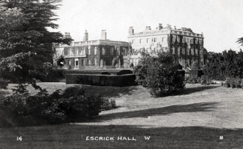 Postcard of Escrick Hall