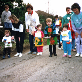 Escrick Annual Children's Pancake Race 1990