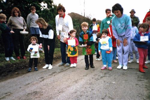 Escrick Annual Children's Pancake Race 1990
