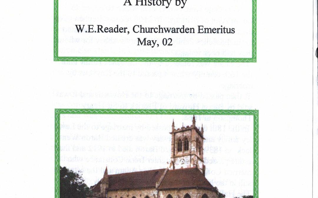 A history of St Helen's Church Escrick by Bill Reader, Churchwarden Emeritus May 2002