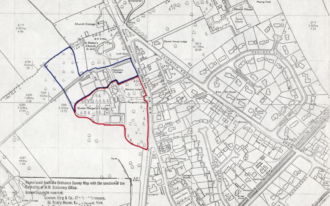 Ordnance Survey Map showing land for sale