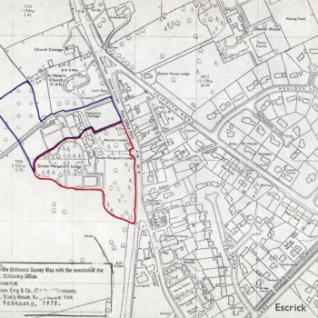 Ordnance Survey Map showing land for sale
