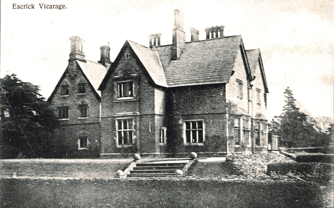 Postcard of Escrick Rectory  (Now the Parsonage Hotel)