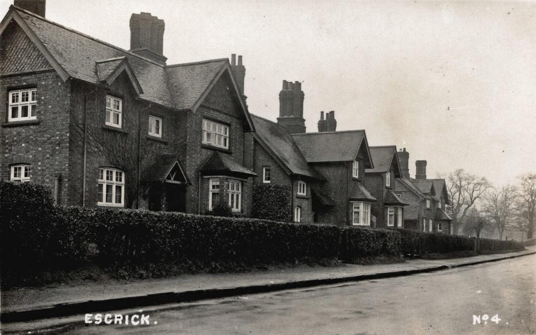 Postcard of Escrick Main Street – No 4 in series