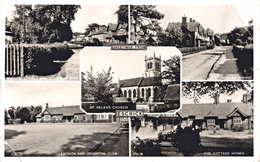 Souvenir Postcard of Escrick