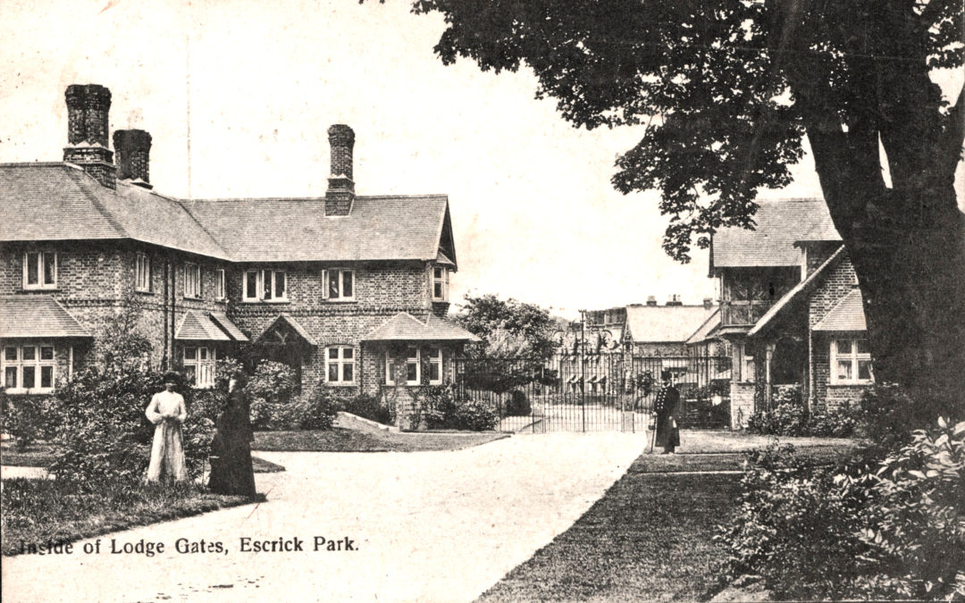Postcard of Inside of Lodge Gates to Escrick Park