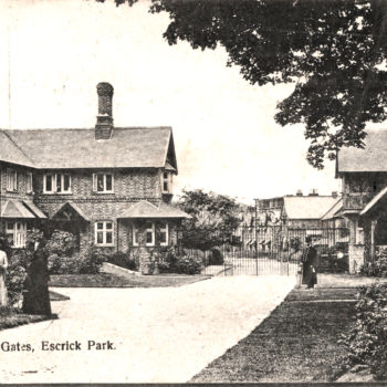 Postcard of Inside of Lodge Gates to Escrick Park
