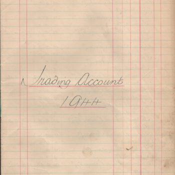 Escrick & Deighton Club Trading Accounts - 1944