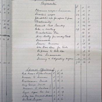 Extract of Church Wardens Accounts St Helen's Escrick - 1942