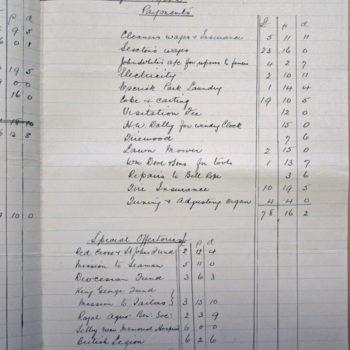 Extract of Church Wardens Accounts St Helen's Escrick - 1942