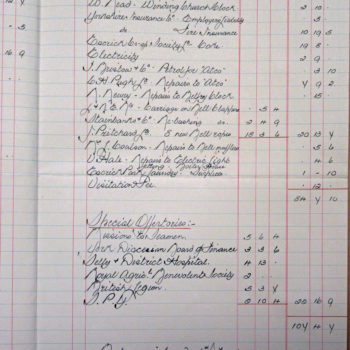 Extract of Church Wardens Accounts St Helen's Escrick - 1945
