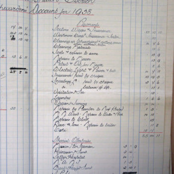 Extract of Church Wardens Accounts St Helen's Escrick - 1938