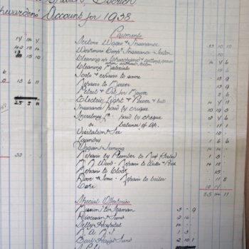 Extract of Church Wardens Accounts St Helen's Escrick - 1938