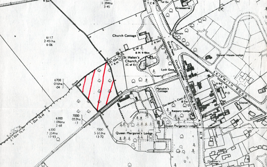 Map of proposed new Surgery at Escrick – 25 April 1980