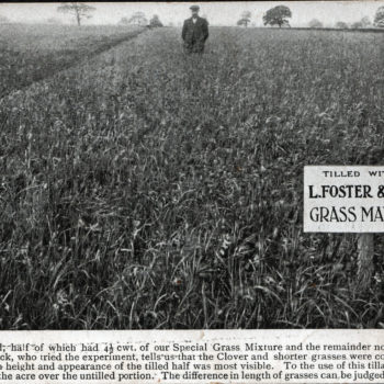 Postcard of Grass Manure experiment a success says Mr Sefton Tomlinson (Middle)