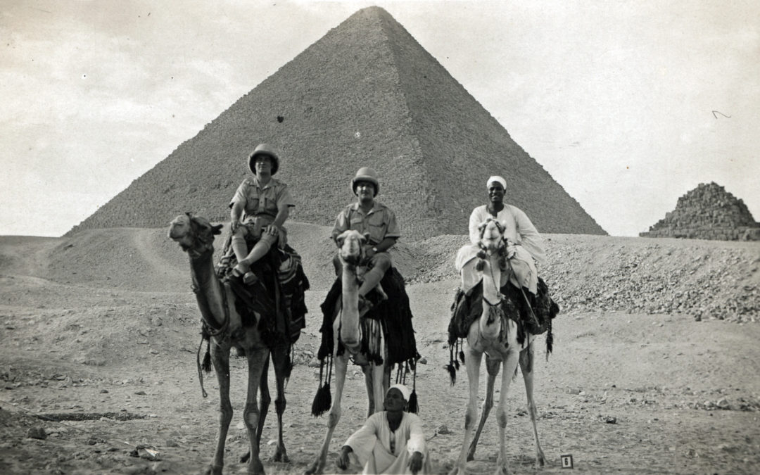 Postcard of Herbert Tomlinson (Left) – Egypt 1940