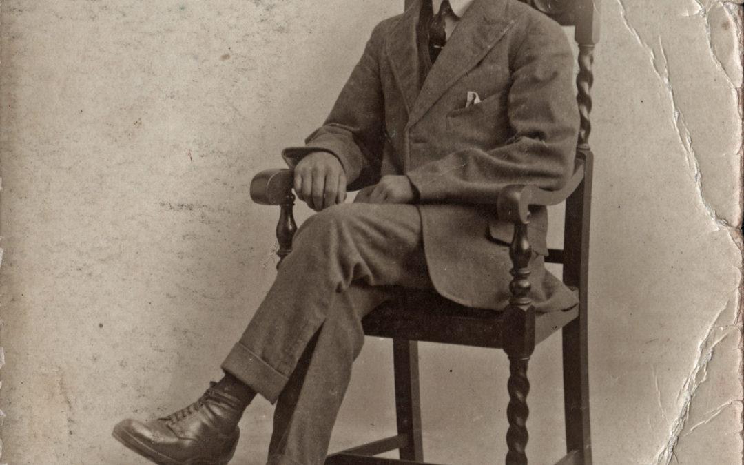 Postcard of Sefton Tomlinson Jnr Mount Farm Escrick on his 21st Birthday – Eldest son of Sefton (Snr) & Hannah Tomlinson. Father of Mary, Gwen, Joyce, Freda, Eileen