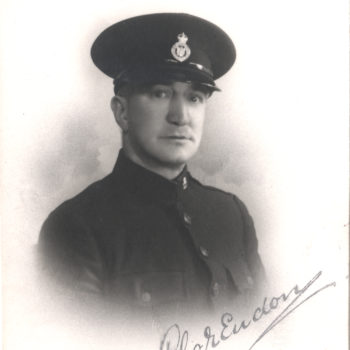Sefton Tomlinson (Jnr) as Special Constable in Riccall during WW2