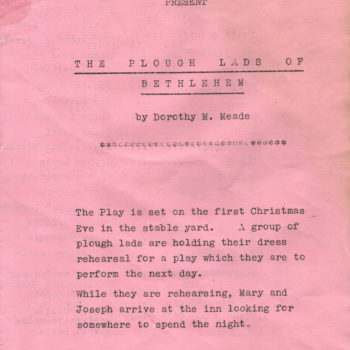 The Plough Lads of Bethlehem, a play performed by St Helen's Parish Church Sunday School