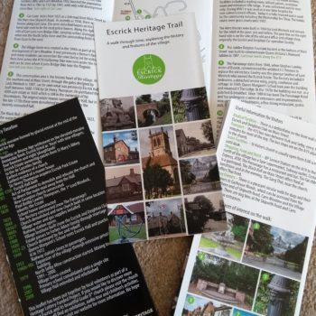 Escrick Village Trail Leaflet.  Free.