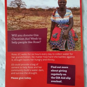 Christian Aid Week.  10th to 16th May